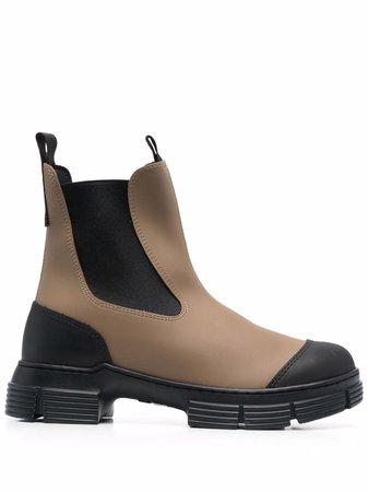 GANNI chunky ankle boots - FARFETCH