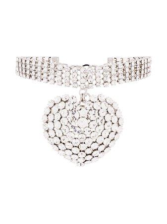 Alessandra Rich Heart Charm Choker Necklace | Farfetch.com