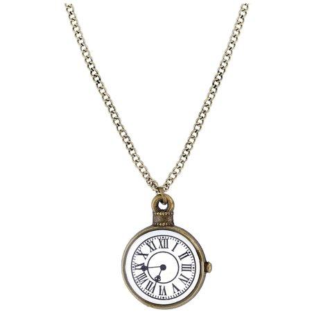 Clock Watch Vintage Steampunk Retro Necklace