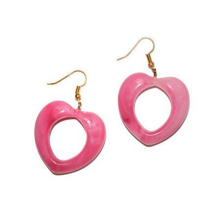 Vintage Pink Marble Heart Earrings cute vintage kitschy   Etsy