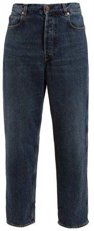 Kim High Rise Denim Boyfriend Jeans - Womens - Dark Denim