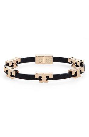 Tory Burch T-Logo Single Wrap Bracelet | Nordstrom
