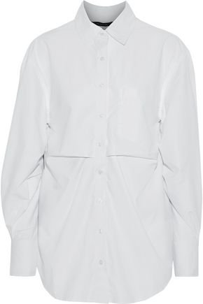 Stella pleated poplin shirt | W118 by WALTER BAKER | Sale up to 70% off | THE OUTNET