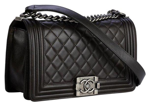black Chanel boy bag