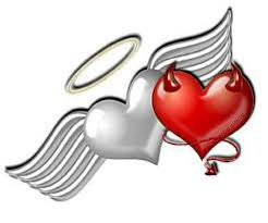 angle and devil heart - Google Search