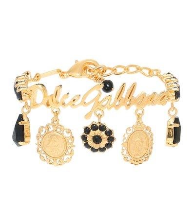 Gold-Plated Charm Bracelet - Dolce & Gabbana | Mytheresa