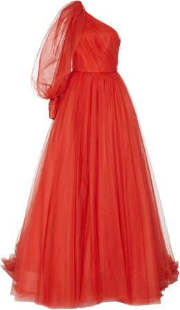 One-Shoulder Tulle Ball Gown