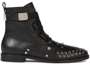 Synapse Embellished Leather Ankle Boots