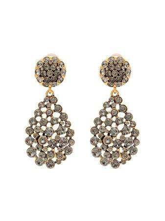 Oscar De La Renta gold-tone Crystal Earrings - Farfetch
