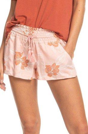Oceanside Floral Print Shorts