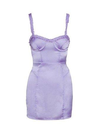 For Love & Lemons Jackpot Mini Dress Purple
