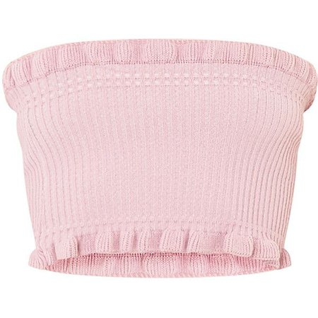 pink frill tube top - Google Search