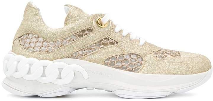 Glitter Low-Top Sneakers