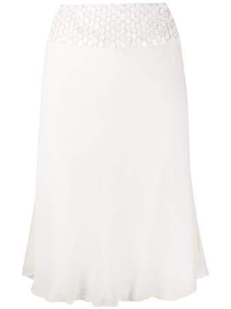 Gianfranco Ferré Pre-Owned 1990s Sequin Embroidered Detailed Skirt - Farfetch