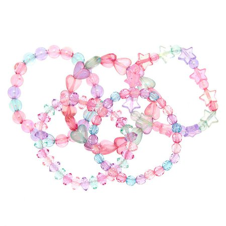 Claire's Club Beaded Stretch Bracelets - 5 Pack | Claire's US