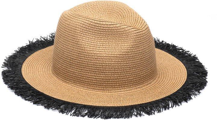 Fringe Trim Sun Hat