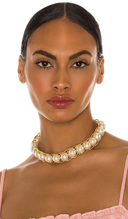 Braided Pearl Collar Necklace