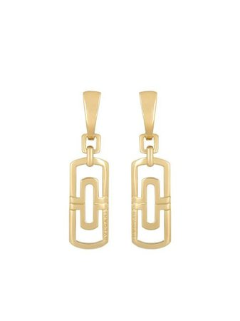 Bvlgari pre-owned 18kt Yellow Gold Drop Earrings - Farfetch