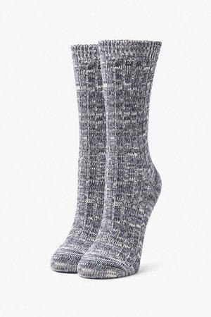 Marled Knit Crew Socks | Forever 21