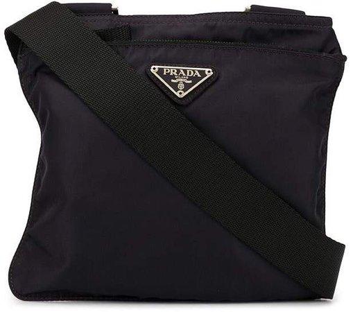 Pre-Owned triangular logo crossbody bag