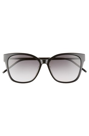 Saint Laurent 56mm Rectangular Sunglasses | Nordstrom
