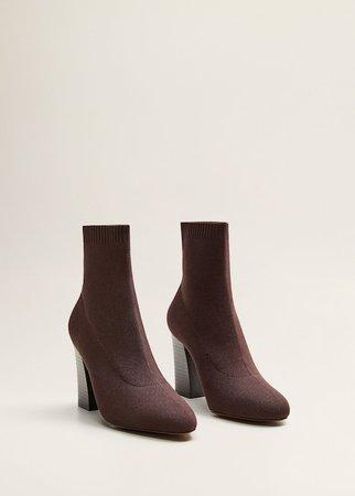 Heel sock boots - Women   Mango USA
