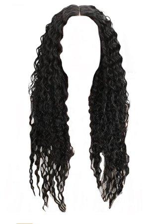Long Curly Black Hair
