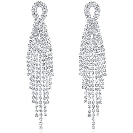 silver dangle earrings - Google Search