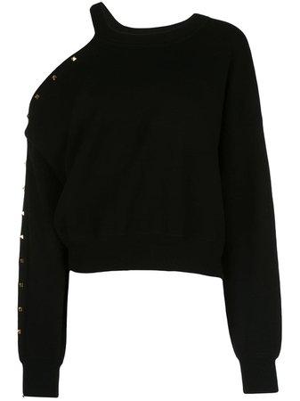 Alice+Olivia Michael open-shoulder Sweatshirt - Farfetch