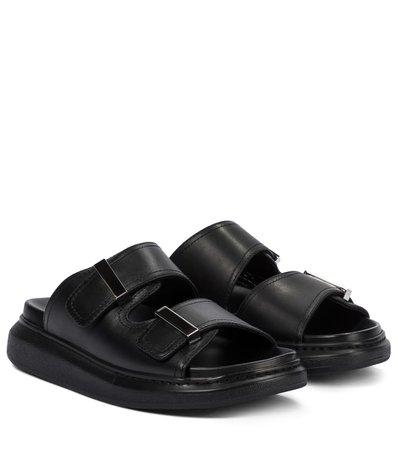 Alexander McQueen - Hybrid leather sandals | Mytheresa