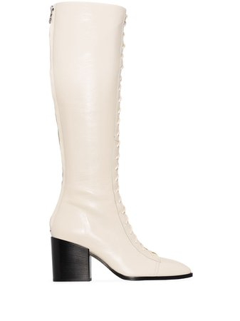 Aeyde Britta 75mm knee-high Boots - Farfetch