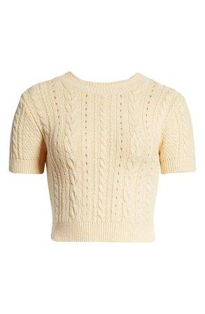 Free People Short & Sweet Crop Sweater | Nordstrom