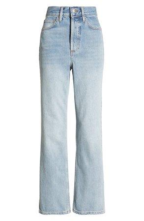 Topshop Kort High Waist Straight Leg Jeans (Bleach) | Nordstrom