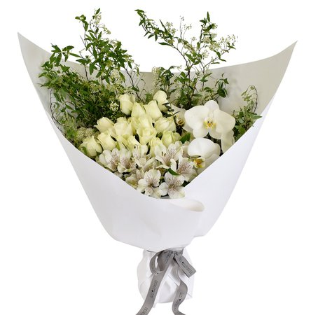White Orchid Bouquet flower