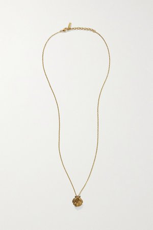 Gold Gold-tone necklace | SAINT LAURENT | NET-A-PORTER