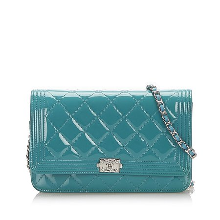 Chanel Boy Patent Leather Wallet on Chain | Luxury Garage Sale