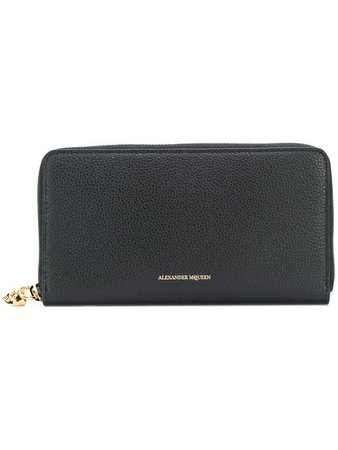 Alexander McQueen Zip Around Continental Wallet