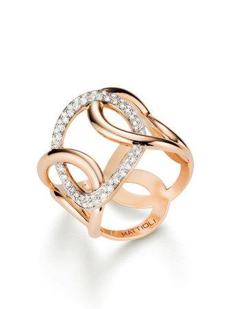 MATTIOLI 18kt Rose Gold Hiroko Diamond Ring - Farfetch