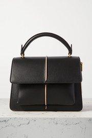 SAINT LAURENT | Cassandra mini textured-leather tote | NET-A-PORTER.COM