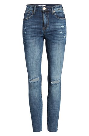 STS Blue Ellie Ripped High Waist Ankle Skinny Jeans (Paradise Bay) | Nordstrom