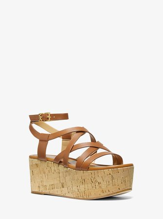 Marlon Leather Wedge Sandal