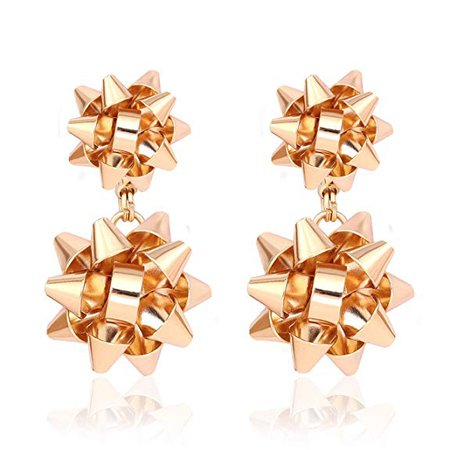 Amazon.com: VK Accessories Christmas Earrings Christmas Gift Bow Stud Drop Dangle Earrings (Gold): Jewelry