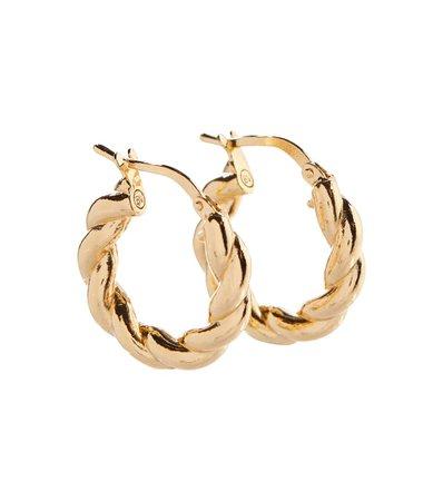 Bottega Veneta - Gold-plated silver earrings | Mytheresa