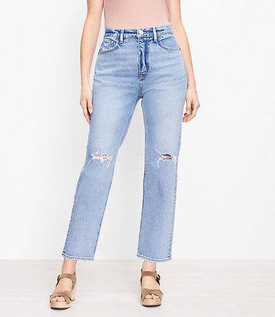 The Curvy 90s Straight Jean in Light Authentic Indigo Wash