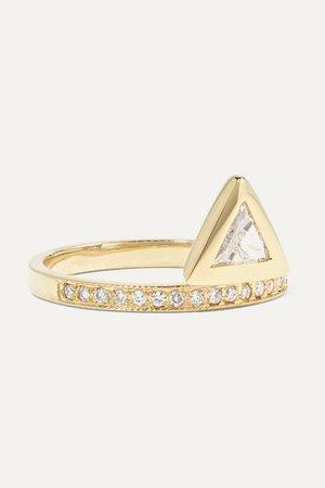 Jacquie Aiche   14-karat gold diamond ring   NET-A-PORTER.COM