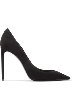 Saint Laurent | Zoe suede pumps | NET-A-PORTER.COM