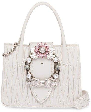 Miu Lady matelassé handbag