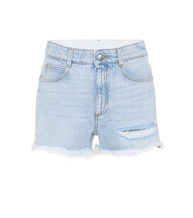 Stella McCartney - Distressed denim shorts | Mytheresa