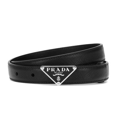 Prada - Logo leather belt | Mytheresa