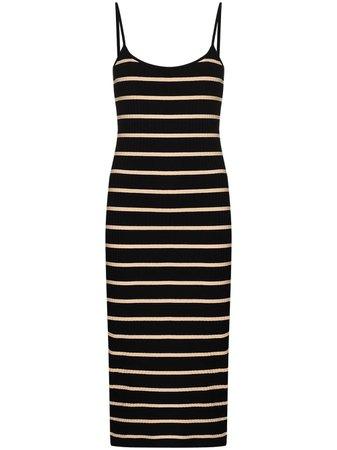 Ninety Percent Striped Ribbed Organic cotton-blend Dress - Farfetch